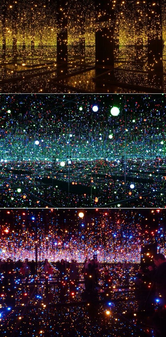 Yayoi Kusama (Infinity Mirrored Rooms) must have taken notes from my room. PERFECT EXAMPLE OF REFLECITON AND MIRROR ART