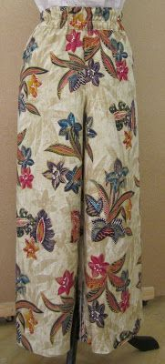 EL BAÚL DE LAS COSTURERAS. Pantalón ancho de mujer, muy cómodo para estar en casa o como pantalón de pijama. Cómo omo hacer pantalón de pijama ancho con elástico en la cintura.
