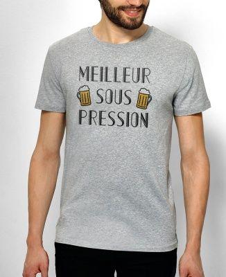 Tee-shirts Homme Meilleur Sous Pression Gris by Monsieur TSHIRT
