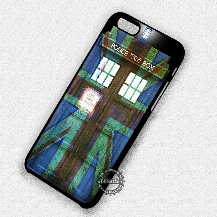 Police Box Flag Print Tardis Doctor Who - iPhone 7 6 5 SE Cases & Covers