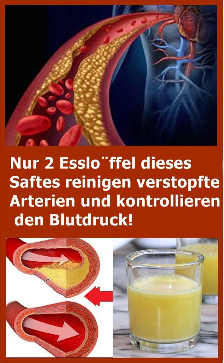 Nur 2 Esslöffel dieses Saftes reinigen verstopfte Arterien und kontrollieren d…