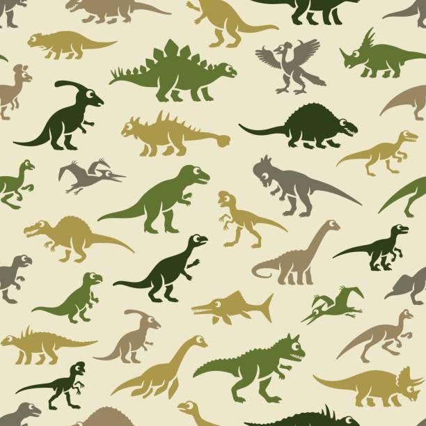 Dinosaurs Pattern Vector Art Illustration Dinosaur Wallpaper Kids Patterns Dinosaur Pattern