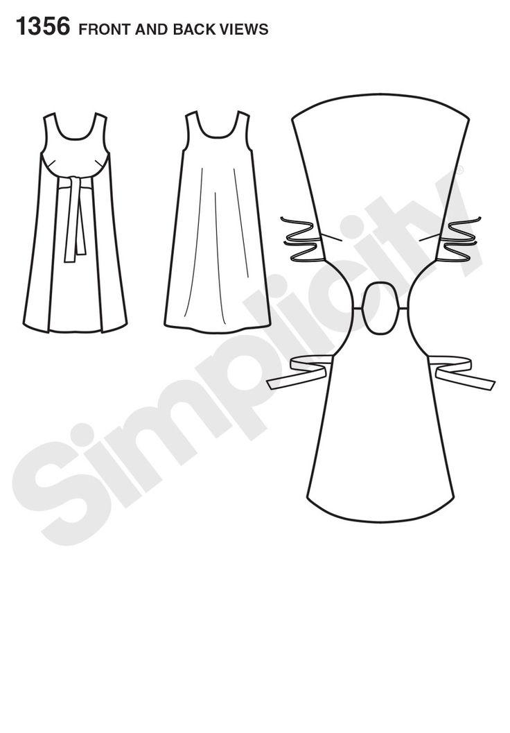 Simplicity Creative Group - Misses' Vintage Jiffy® Reversible Wrap Dress ni bouton, ni fermeture. Système à tenter en vêtement de poupée?