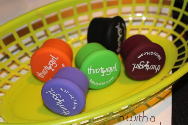 Thirsty Girl wine stoppers. Could they be any cuter?Winter Wine, Girls Wine, Wine Stoppers, Wine Festivals, Wine Bottle