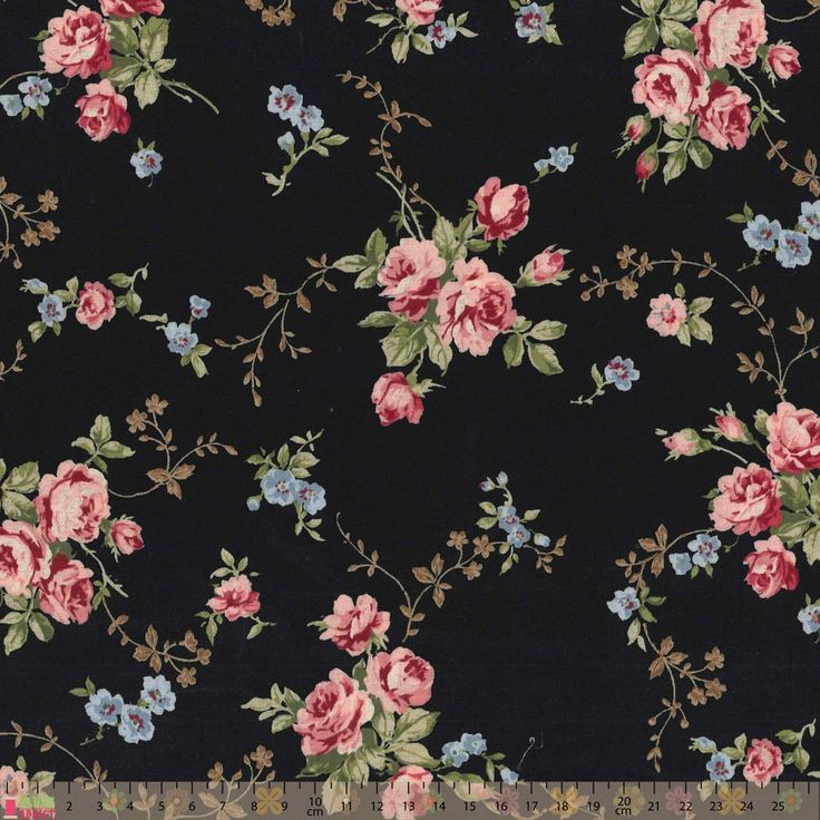 http://www.plushaddict.co.uk/new-arrivals/japanese-import-somerset-floral-sprays-on-black.html Japanese Import Somerset Floral Sprays On Black