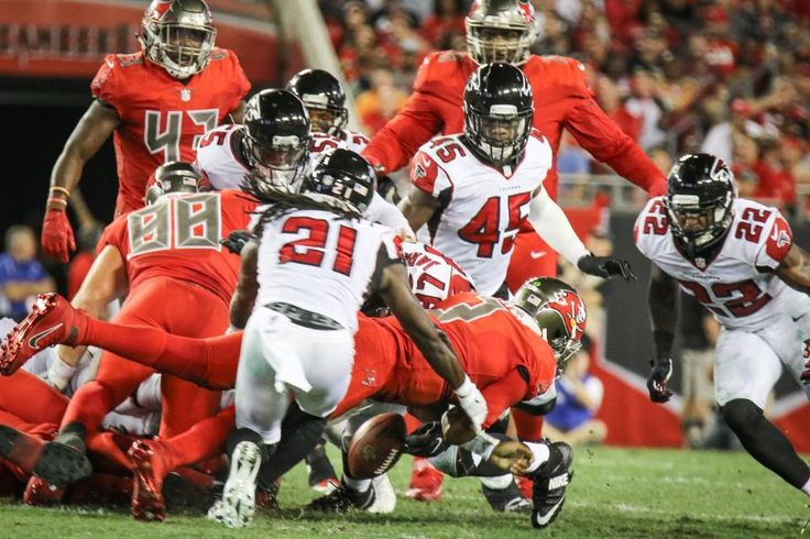 Falcons vs. Buccaneers:  43-28, Falcons  -  November 3, 2016  -     The Falcons and the Buccaneers match up in a Thursday Night Football battle at Raymond James Stadium.