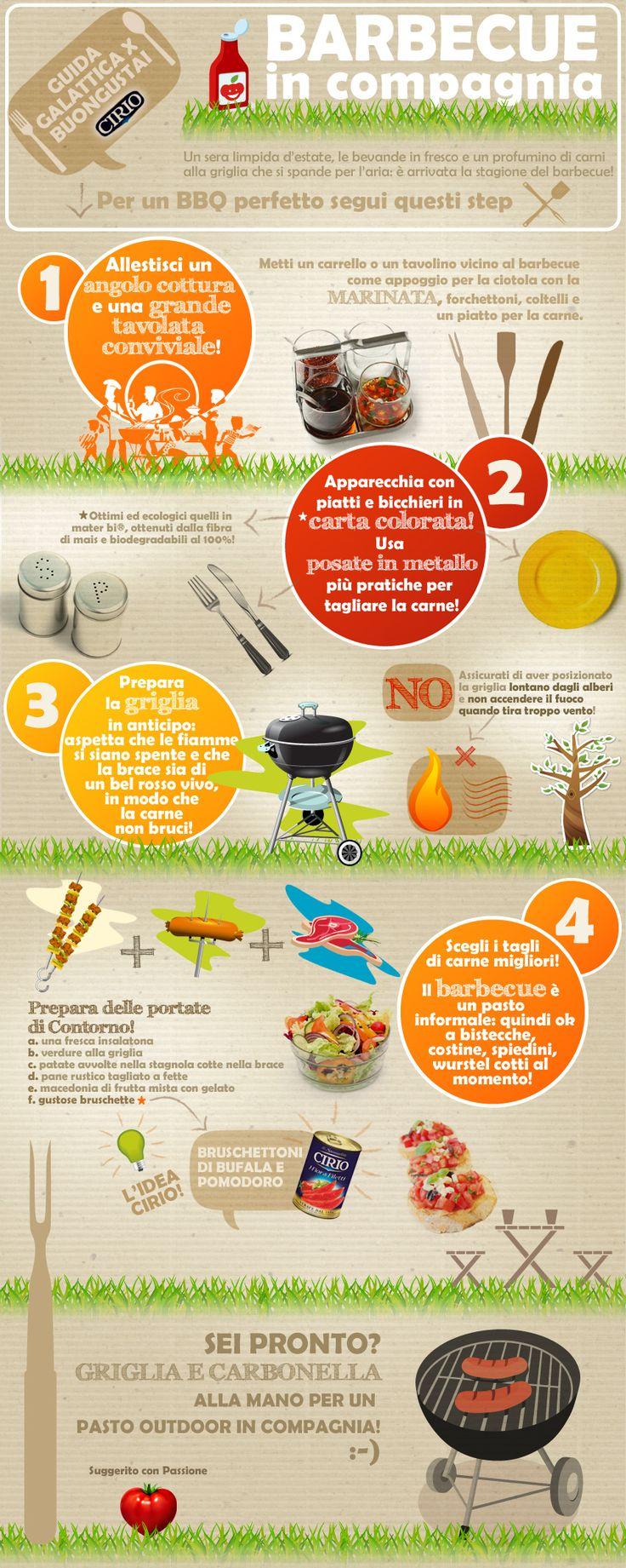 """""""Guida galattica per Buongustai"""" Cirio  Il Barbecue #bbq #barbecue #infographic"""