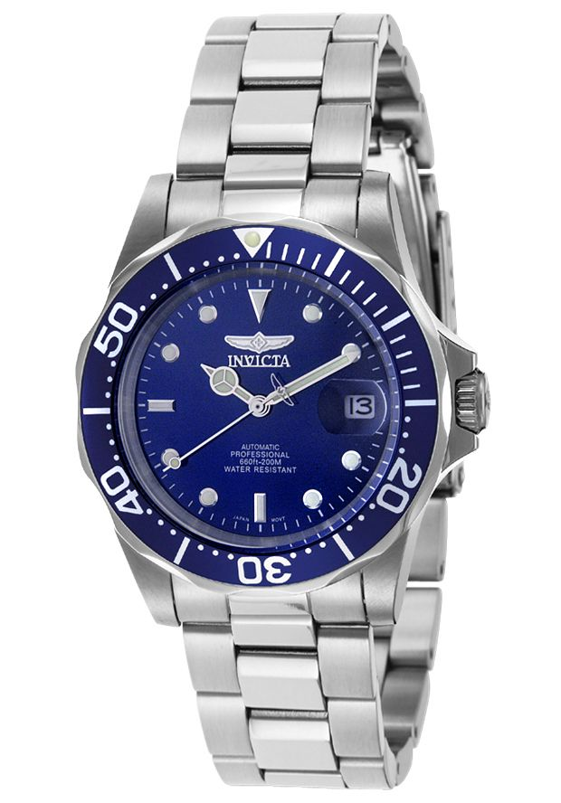 Men watches : Invicta Men's 9094 Pro Diver Collection Stainless Steel Automatic Dress Watch with Link Bracelet