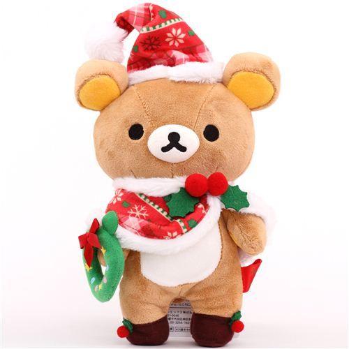 Rilakkuma brown bear Santa Claus Xmas plush toy San-X Japan $24.57 http://thingsfromjapan.net/rilakkuma-brown-bear-santa-claus-xmas-plush-toy-san-x-japan/ #rilakkuma plush #san x products #kawaii Japanese stuff