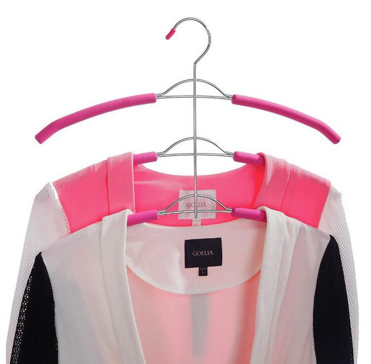 Hangerlink Organize Closet, Non Slip 3 Layers Strong Metal Hanger for Clothes Coats (2 pieces/Lot) #clothing,#shoes,#jewelry,#women,#men,#hats,#watches,#belts,#fashion,#style