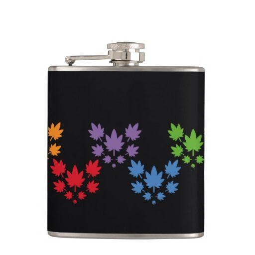 Hoja colores arcoiris vectorial de planta. Plant. Cannabis. Producto disponible en tienda Zazzle. Product available in Zazzle store. Regalos, Gifts. Link to product: http://www.zazzle.com/hoja_colores_arcoiris_vectorial_de_planta_plant_flask-256594861408283738?CMPN=shareicon&lang=en&social=true&rf=238167879144476949 #bottle #botella #petaca #marihuana #cannabis