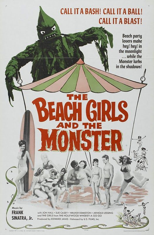 "The Beach Girls and the Monster (1965) Horror ----- A movie more to be seen for it's numerous go-go dancing scenes than the ""horror"""