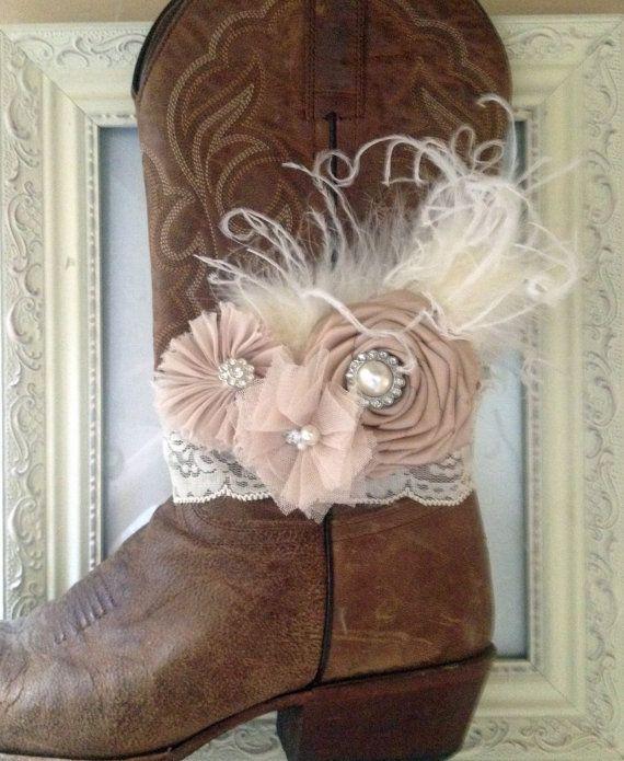 Bridal Cowgirl Boot Bracelet by AmericanCowgirls on Etsy, $19.00