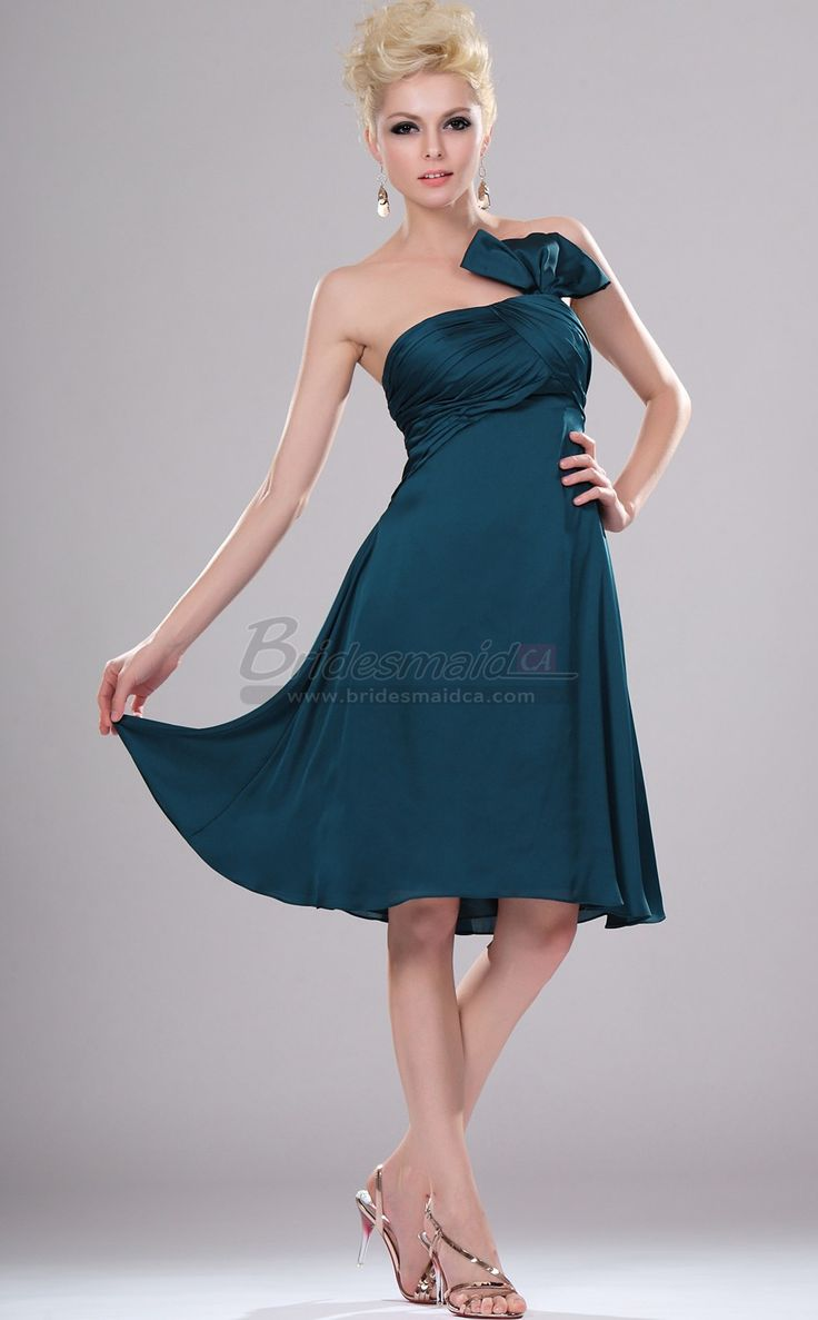 #bridesmaiddresses Strapless Organza Ink Blue Short Bridesmaid Dress BD-CA404