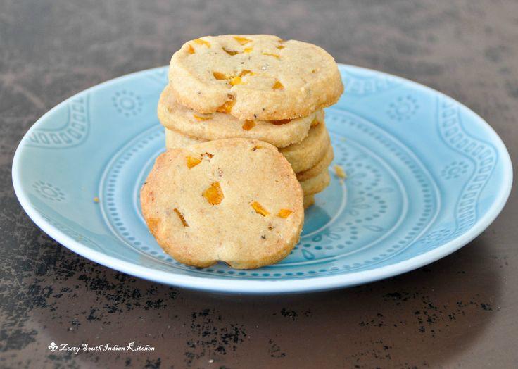 Jackfruit shortbread cookies with cardamom - Zesty South Indian Kitchen : #recipe #desserts#vegetarian #cookies #jackfruit