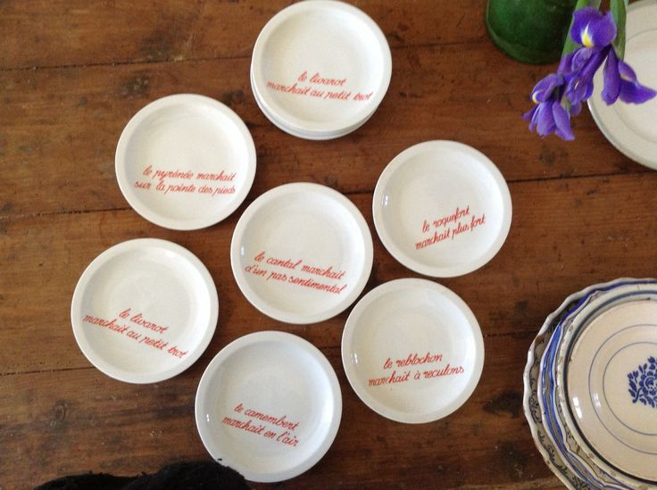 Set of 12 small cheese plates. & 36 best Small French Finds in France images on Pinterest   France ...