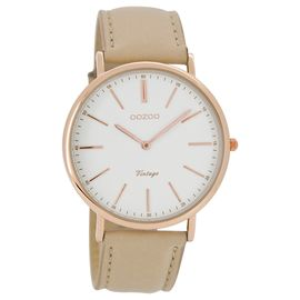 40mm Rose Gold Watch - Sand