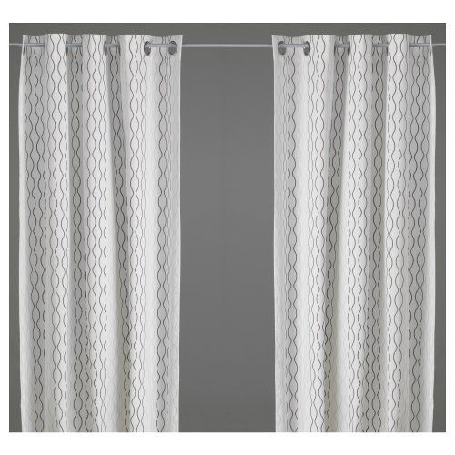 White Curtains black and white curtains ikea : 17 Best images about IKEA on Pinterest | Loveseat covers, Quilt ...