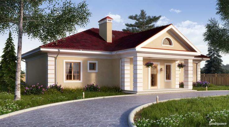 Тренд-204 Проект красивого двухэтажного дома с шатровой крышей