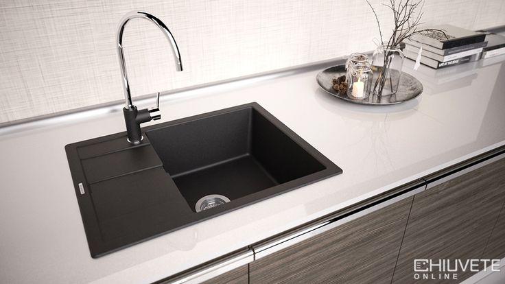 Chiuveta Granit Schock Ronda D-100L - Un model de chiuveta ideal pentru bucatariile mici tipice garsonierelor sau apartamentelor din oras.