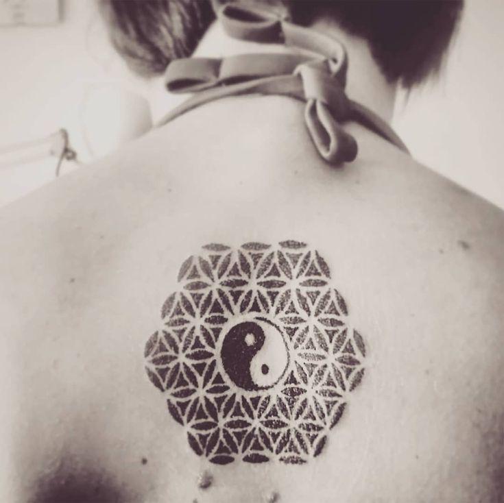 - TATTOO -   Tattoo by ZM Free Spirit Artist  Mandala - Yinyang- Dotwork   Yin Yang in dotwork... #creativemadness #freespirit
