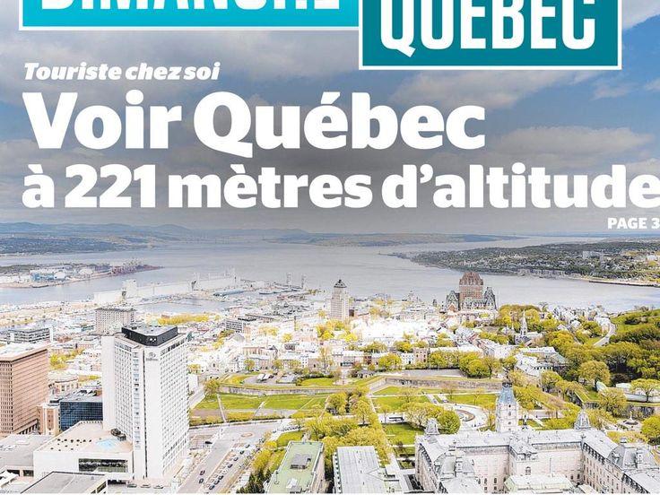 """C'est ça que tu vois quand tu vas au restaurant """"Le ciel"""" de l'hôtel Le concorde. #Québec"""