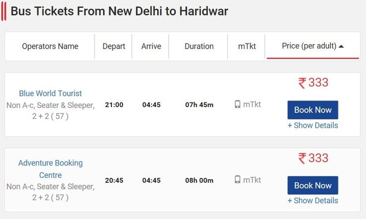 Get New Delhi to Haridwar Bus Tickets Volvo Booking Non AC Seater, New Delhi to Haridwar Sleeper Online Fares, Distance, Boarding Point, Timings & Routes at http://www.distancesbetween.com/bus/bus-tickets-from-new-delhi-to-haridwar/11201