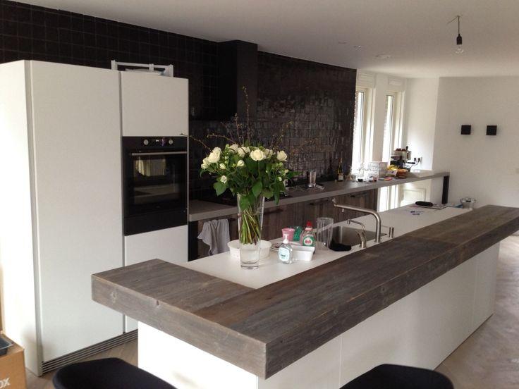 1000 idee n over witte keukens op pinterest witte keukenkasten en boerderijwastafel - Geintegreerde keuken wastafel ...