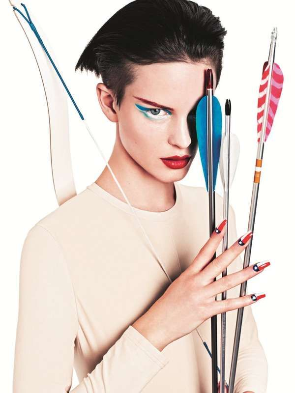 Nail it with bright swipes of color #sporty #beauty #makeupAndrea Sjodin, Beautiful Inspiration, Fashion News, Editorial Inspiration, Hunger Games, Beautiful Games, Ellinore Erichsen, Beautiful Face, Sports Fashion
