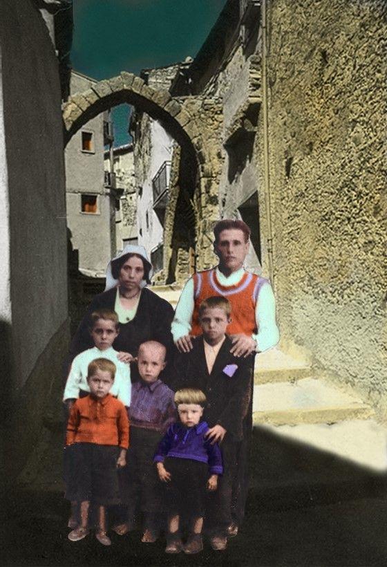 Mes grands parents, mon père,  mes oncles, de San Giovanni in fiore.