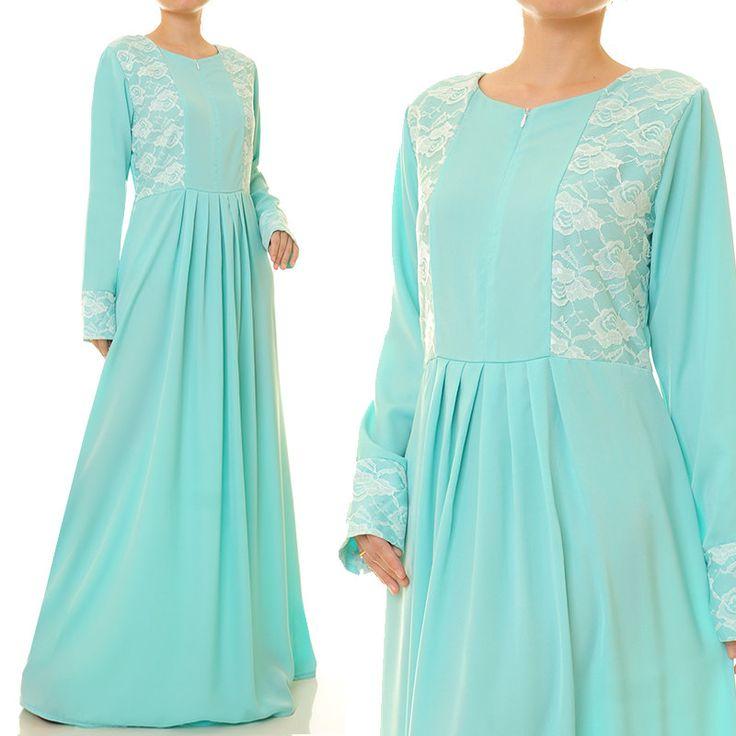 Long Blue Dress   Blue Maxi Dress   Blue Abaya Maxi Dress Long Sleeve   Long Sleeve Maxi Dress   Blue Bridesmaid Dress 6212 by Tailored2Modesty on Etsy