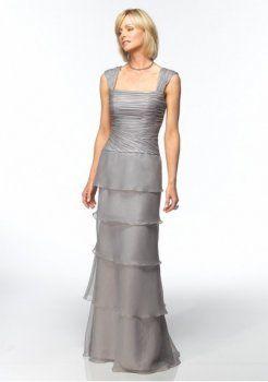 organza Rouched corsage avec une mère mince ligne de la robe de mariée
