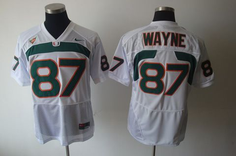 Men's NCAA Miami Hurricanes #87 Wayne White Jersey