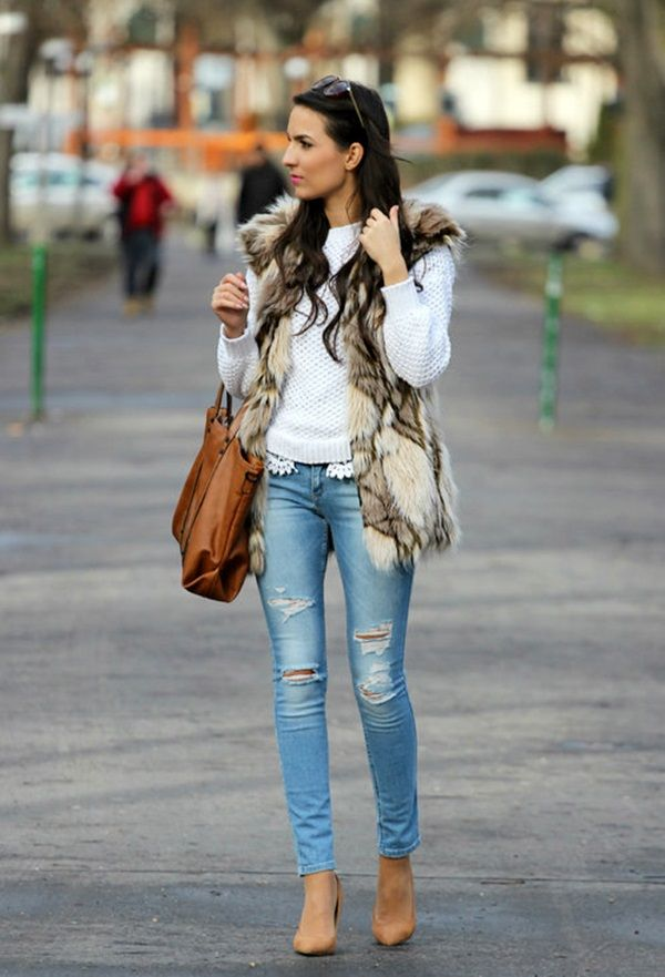 15 Cool Ripped Jeans Outfits Clothing Pinterest Ripped Jeans Outfit And Street Fashion