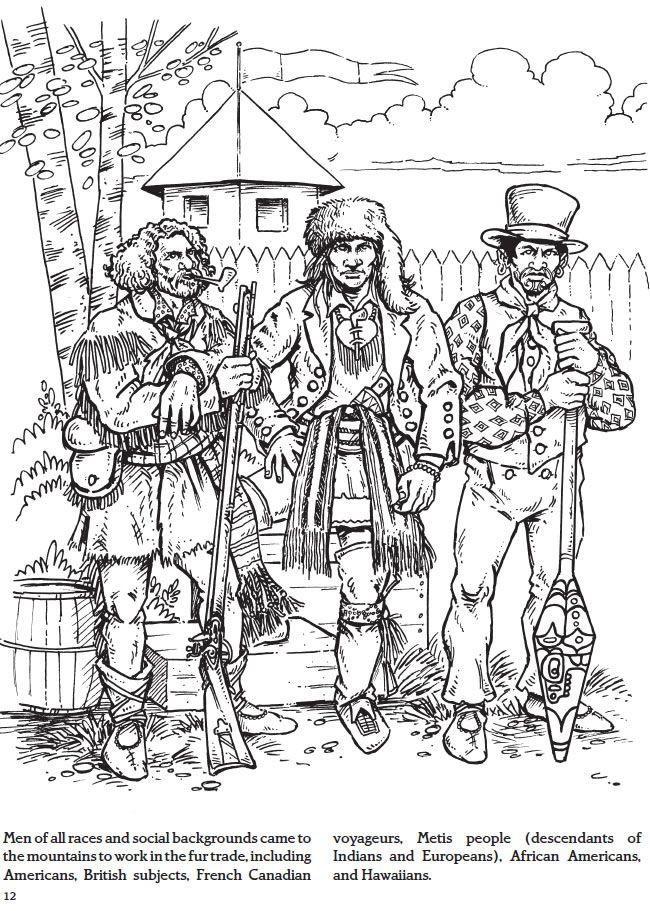 fur trade coloring pages - photo#4