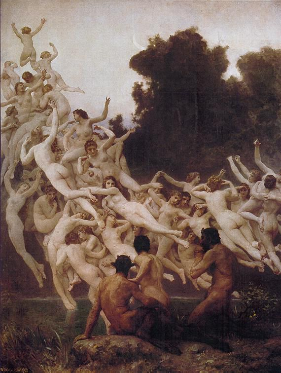 The Oreads - William-Adolphe Bouguereau