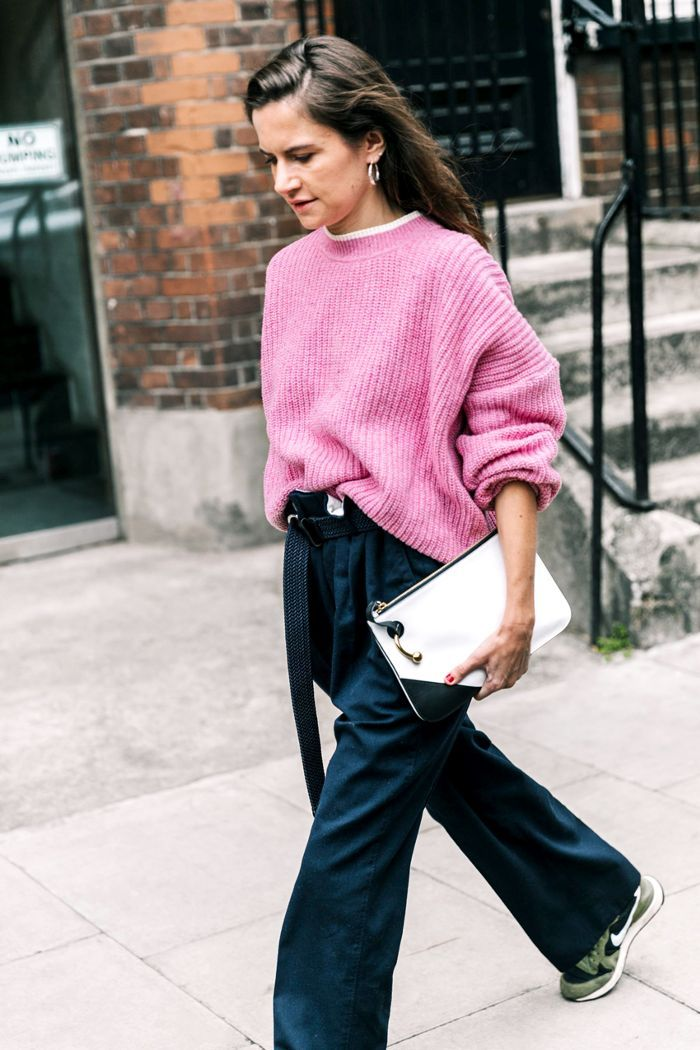 945166cb351 Save these cozy yet stylish outfit ideas to wear with your favorite oversize  sweater.