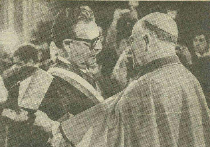 Con cardenal Silva Henríquez.