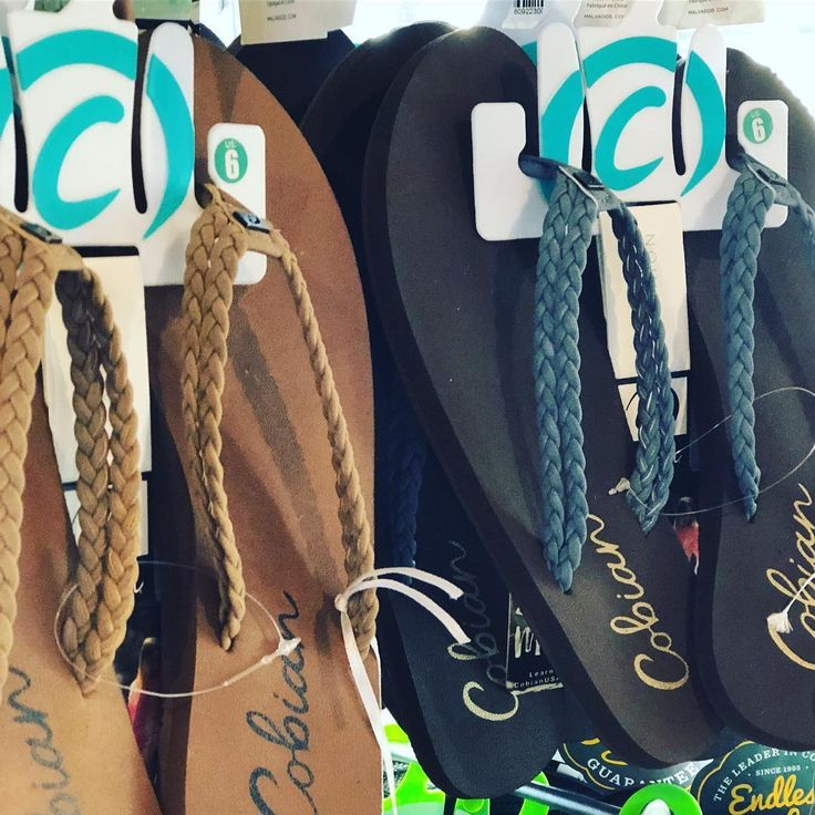 Cobian Flip Flops for women have arrived! Love the soft braids & cushion sole endless comfort right here ladies!!! More styles in store #cobian #flipflops #simplybronze #powellriver #cruiseseason #comfort #vacation