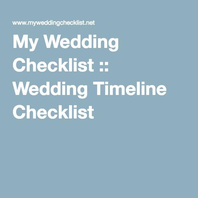 Best 25+ Wedding checklist timeline ideas on Pinterest Wedding - wedding checklist pdf
