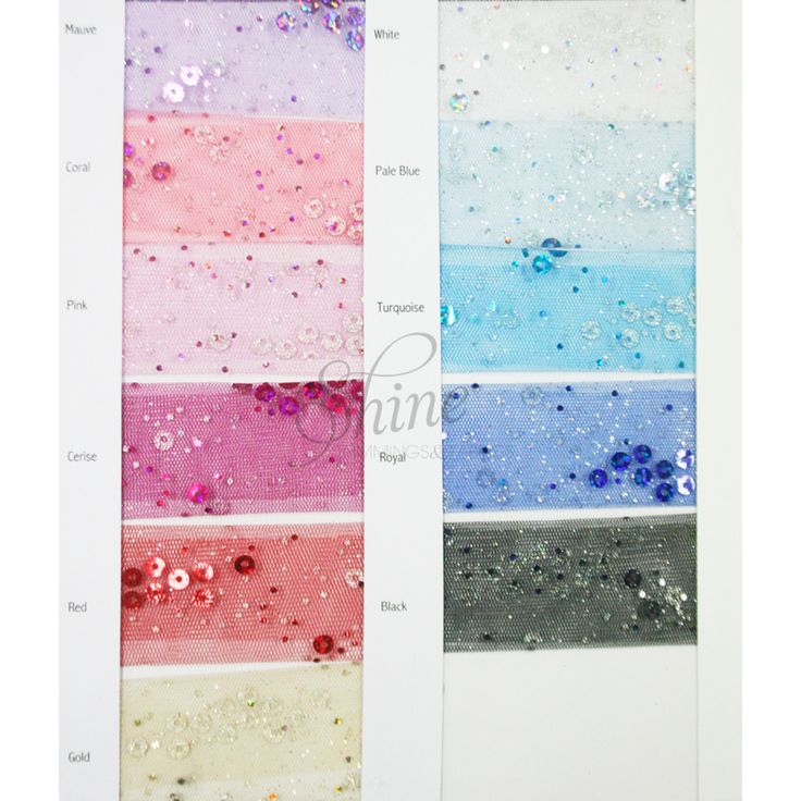 Sequin Tulle Sample Card | Shine Trimmings & Fabrics  | Great fabric for dance costumes and tutu skirts
