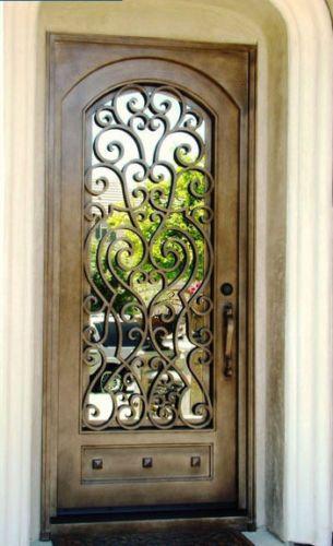 Wrought-Iron-Entry-Doors-Single-Door-SD38003-3x8-door-Custom-sizes-available