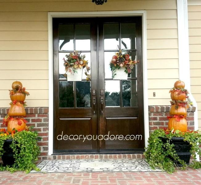 Christmas Wreaths For Double Front Doors: 102 Best Modern Fall Decorations Sets Ideas Images On