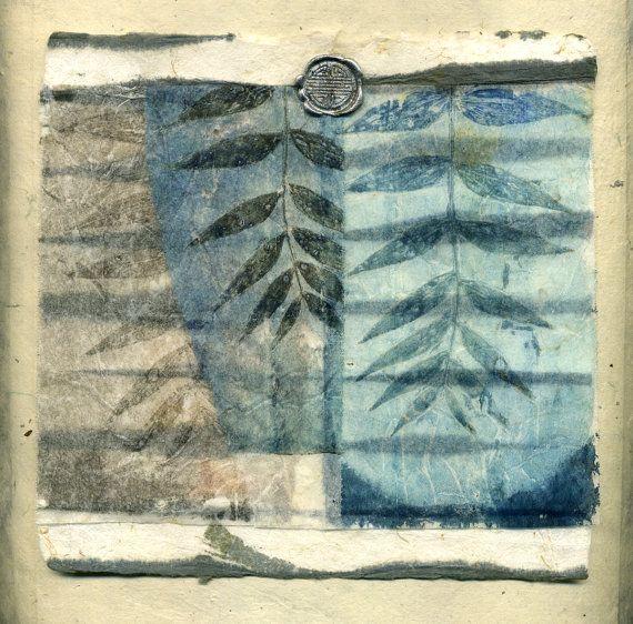 Veiled Promise, ooak collage on handmade paper  kelly tankersley