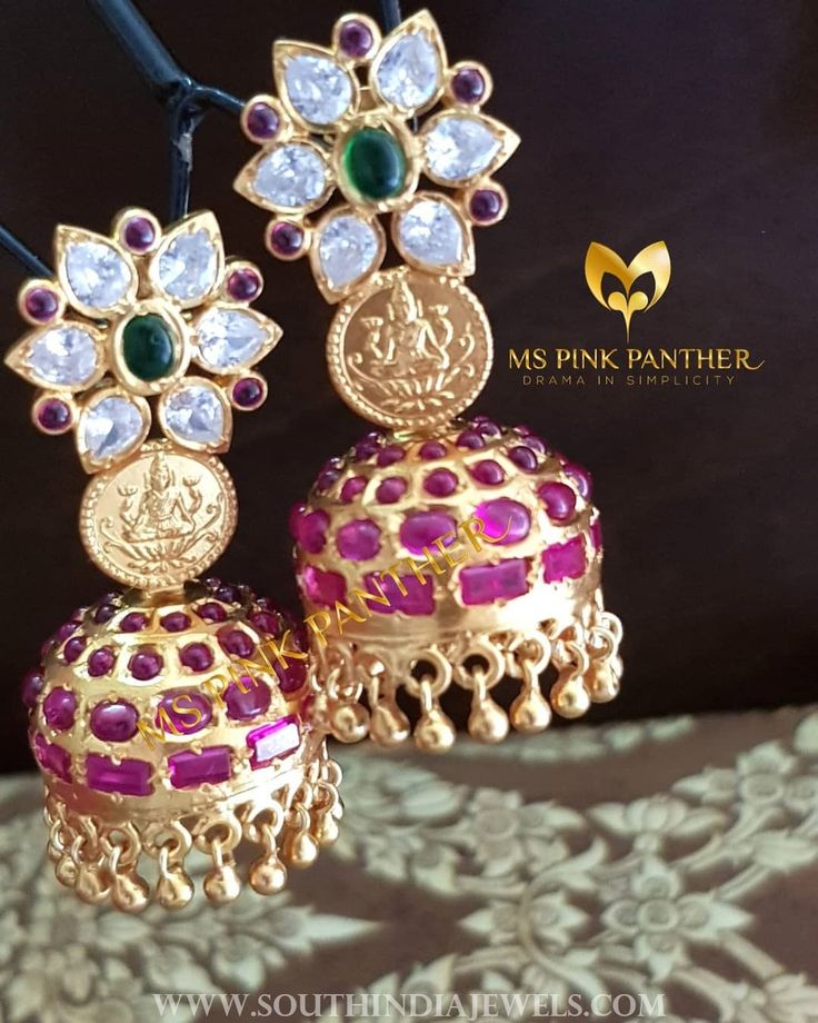 Antique Ruby Coin Jhumka