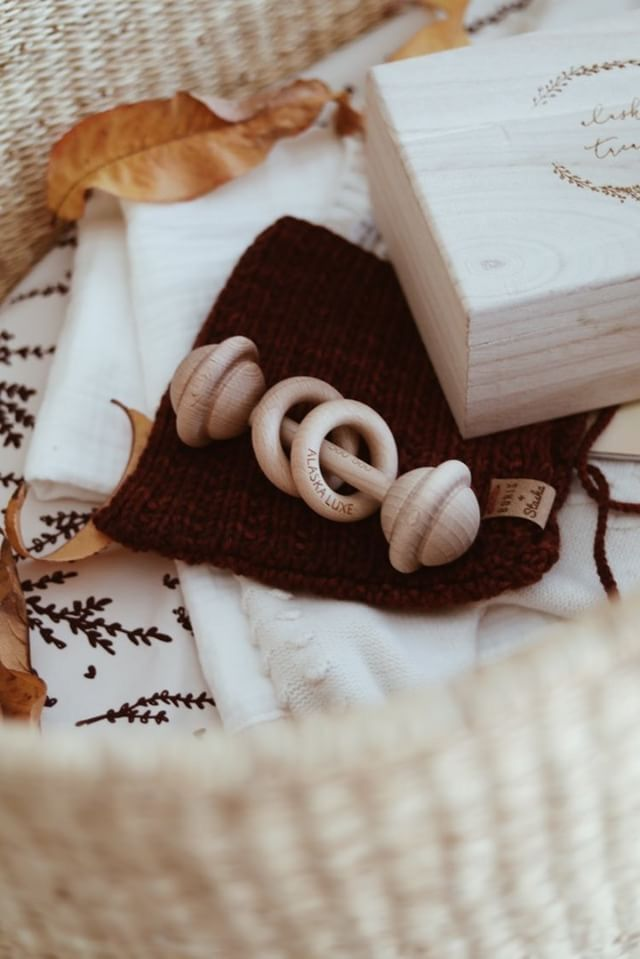 Our Personalised Organic Rattles make the perfect keepsakes.