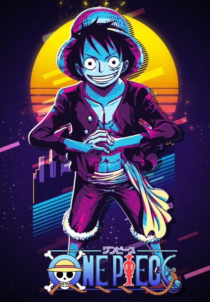 One Piece Metal Poster Gufron Djankisz Displate One Piece Wallpaper Iphone One Piece Anime One Piece Drawing