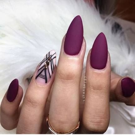 48 trendy ideas for nails acrylic almond matte nails