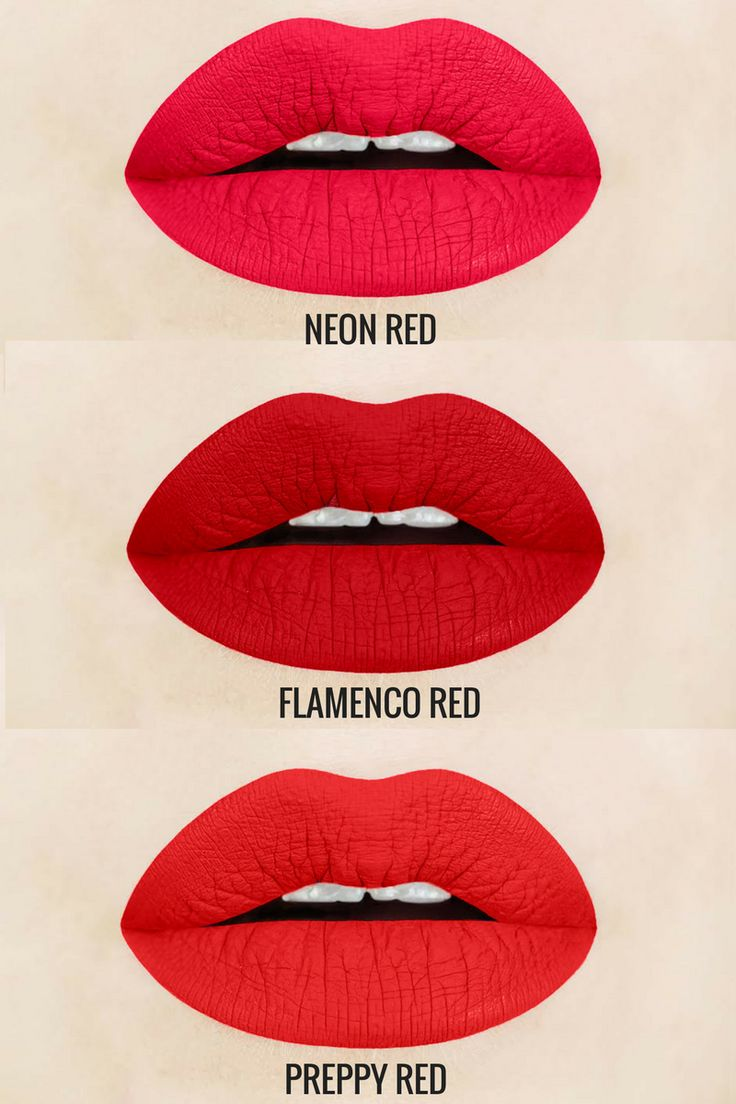 Red Liquid Lipstick Shades Everyone Needs! Neon Red is a magenta red, flamenco red is a true, retro red, and preppy red is a warm red.  Each shade is vegan and cruelty-free, light-weight, non-drying, gluten free, and handcrafted in small batches.  red liquid lipstick | red lips | red liquid to matte lipstick | matte liquid lipstick | matte lipstick best liquid lipstick | vegan lipstick |   http://www.aromibeauty.com/matte-liquid-lipstick/