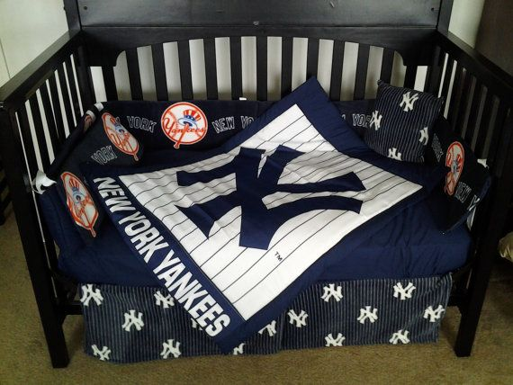 Custom made New York YANKEES full crib by alexiskleegrandma